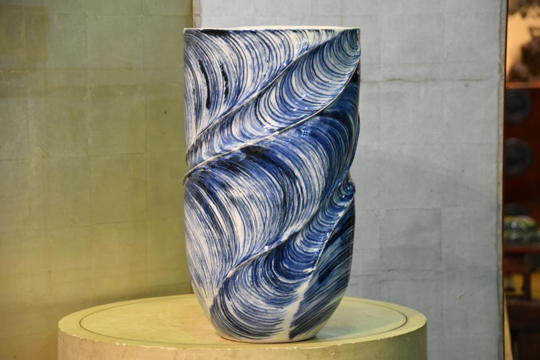 Modern Japanese Ceramic Vase Edo Arts