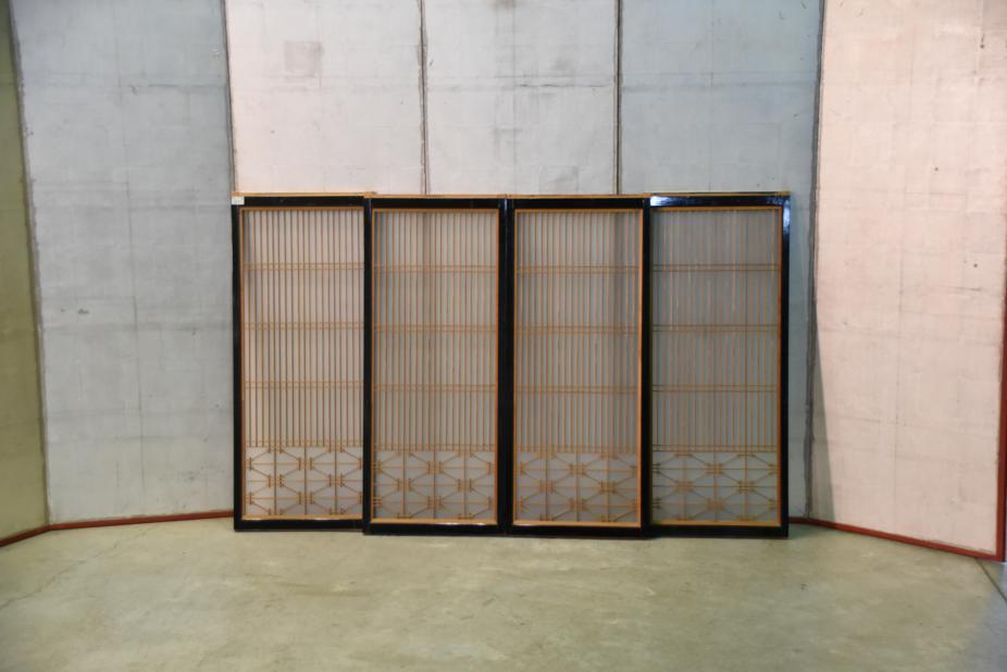 & Set of 4 Japanese Lacquered Window Doors u2013 Edo Arts