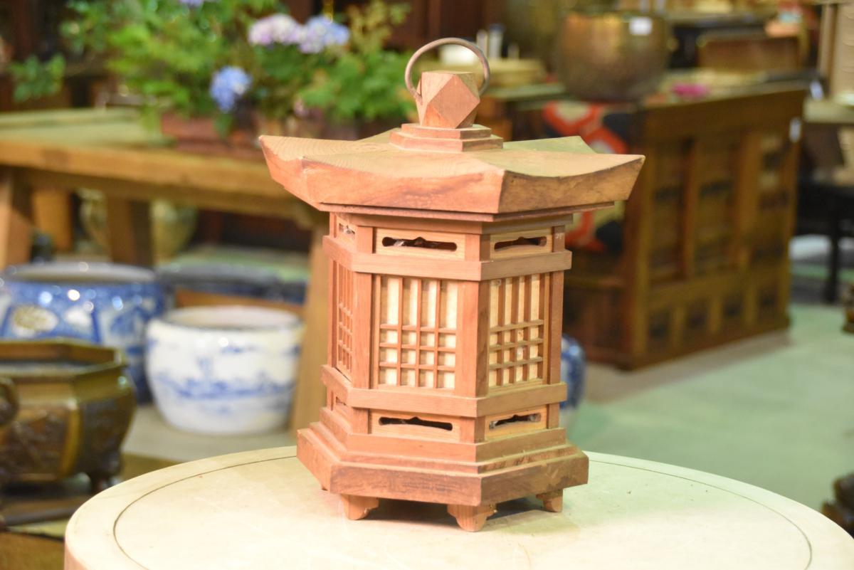 Japanese Hanging Wooden Lantern