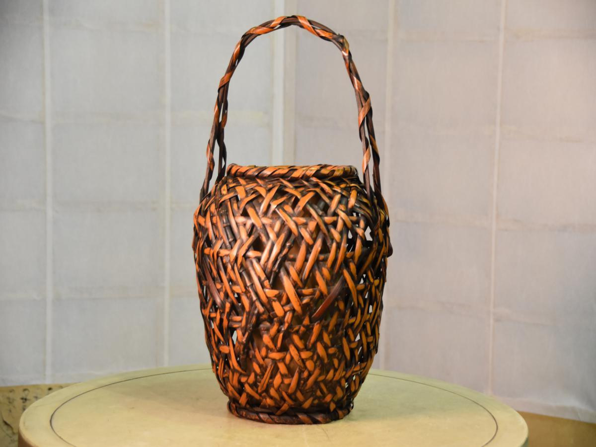 Japanese Bamboo Basket Edo Arts